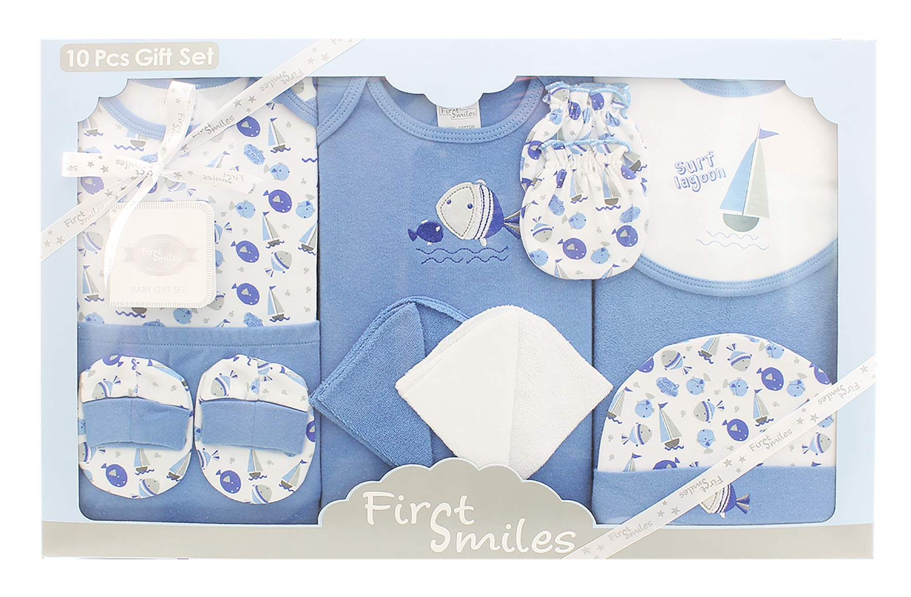 Firstcry Baby Gift Sets : Baby bodysuit pieces gift set for first smile
