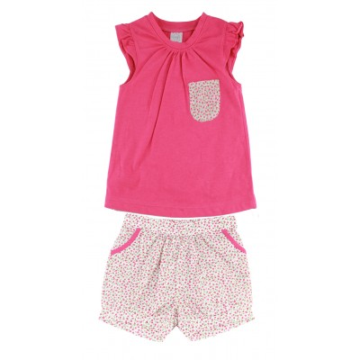 GIRLS FASHION T-SHIRT & SHORTS