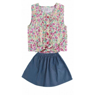 Lilsoft baby Girls fashion Top & Skirt