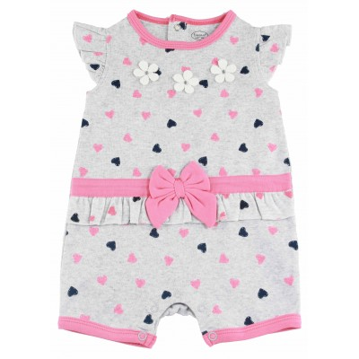 Baby Romper with Ruffles and Bows