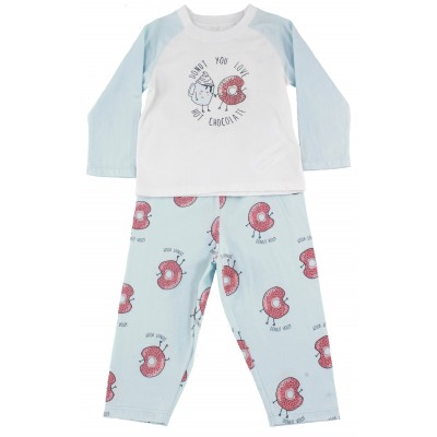 Infant Girls Pyjama Set DONUT YOU LOVE PRINT