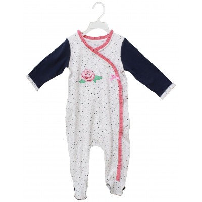 SLEEPSUIT WITH FOOT & EMB