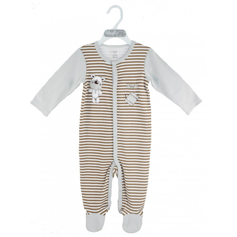 SLEEPSUIT (AOP BODY WITH SOLID SLEEVE)
