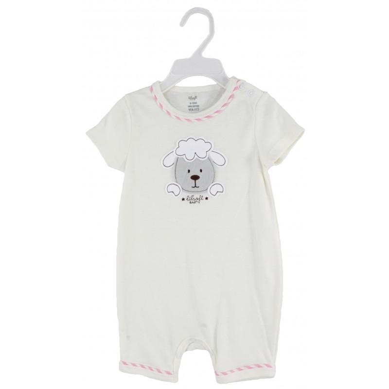 SOLID ROMPER WITH EMB