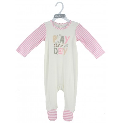 SLEEPSUIT (SOLID BODY WITH AOP SLEEVE)