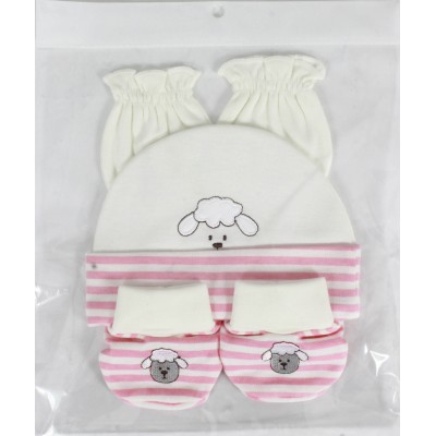 3 PCS SET (MITTIN, HAT & BOOTIES)
