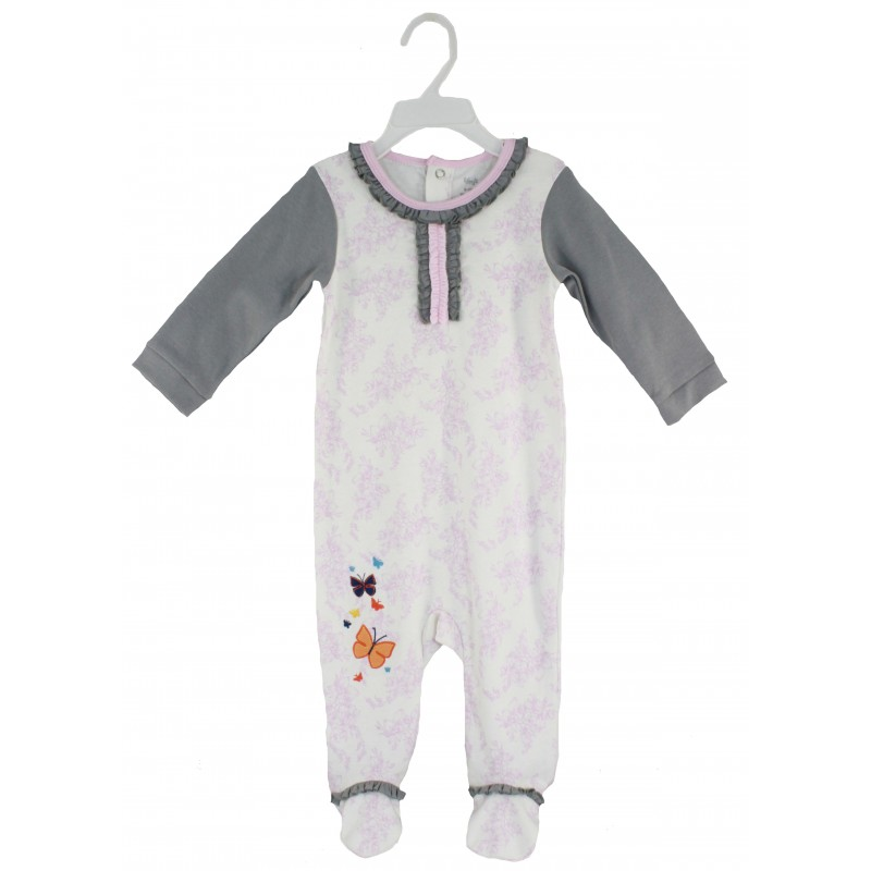 SLEEPSUIT(AOP BODY & SOLID SLEEVE)WITH EMB