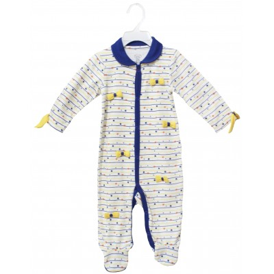 SLEEPSUIT WITH COLLER & FOOT