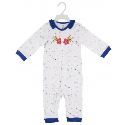 SLEEPSUIT WITH FRILL NECK