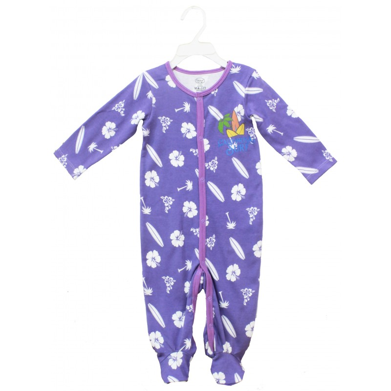 SLEEPSUIT WITH FOOT & SPOT PRINT