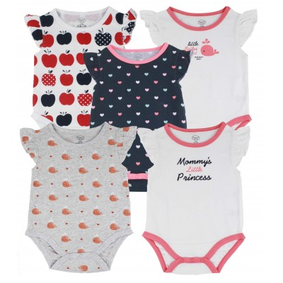 5PCS S/L BODYSUIT IN POLY BAG