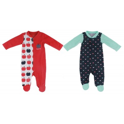 2PCS SLEEPSUIT IN POLY BAG