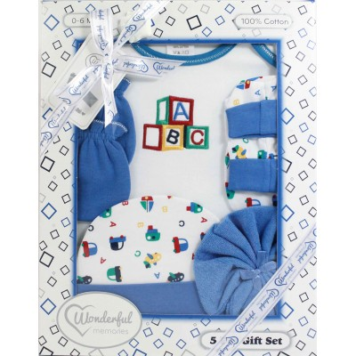 WONDERFUL MEMORIES 5 PCS BABY GIFT SET