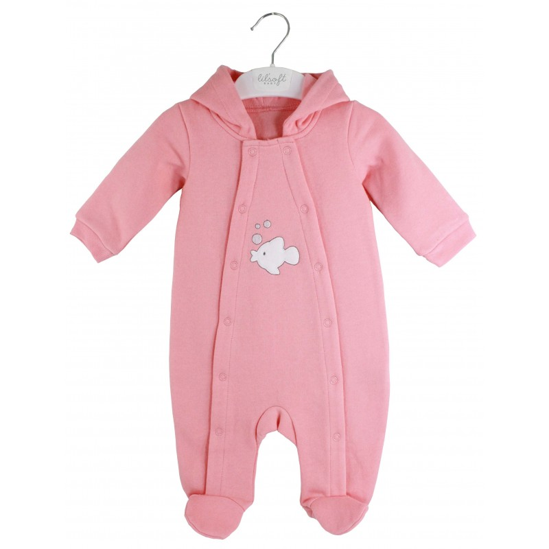LILSOFT BABY HOODED SLEEPSUIT