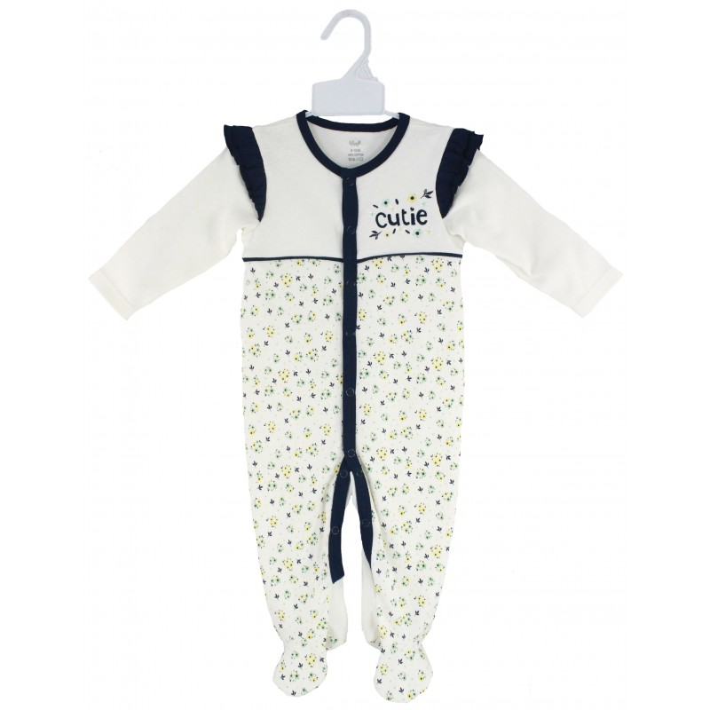SLEEPSUIT WITH SPOT PRINT
