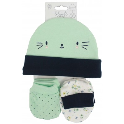 3 PCS SET(HAT, MITTENS, BOOTIES)