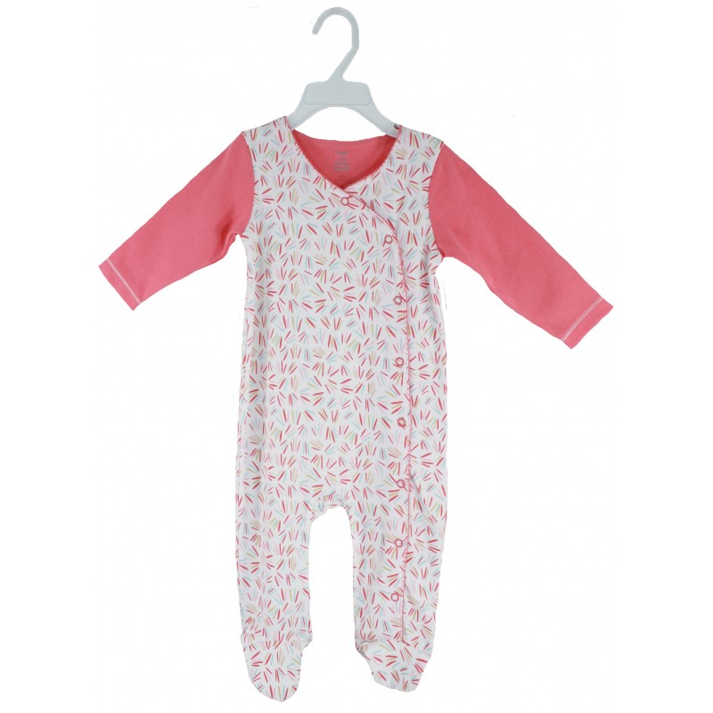SLEEPSUIT WITH FOOT & BOW