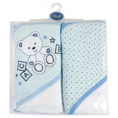 2 PACK HOODED TOWEL-30X30""