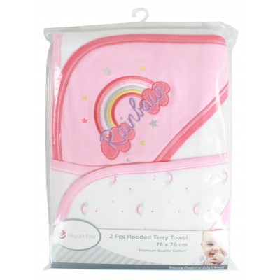 Elegant kids 2 PACK HOODED TOWEL