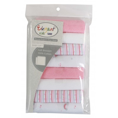 Elegant kids 8 PACK WASHCLOTH