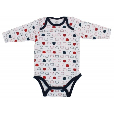 3PCS L/S BODYSUIT IN POLY BAG