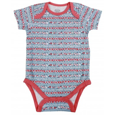 3PCS S/S BODYSUIT IN POLY BAG