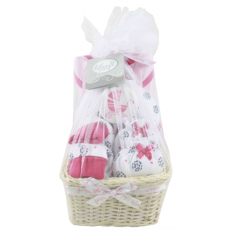 Baby gift basket 6 pieces for gift sets negle Image collections