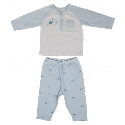 Anti bacterial sanitized t-shirt and pant 2 pieces set