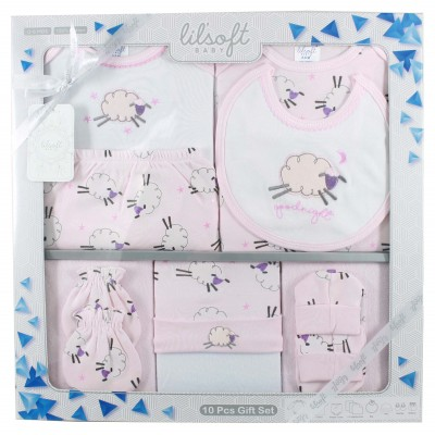 Lilsoft baby Long Bodysuit 10 Pcs Gift Set
