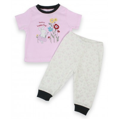 Infant Girl's Pyjama Set in Long Sleeves