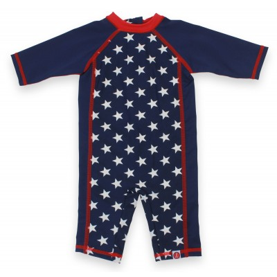 Boys Long Romper Swim Suit