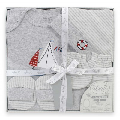 Lilsoft baby Bodysuit 4 Pcs Gift set