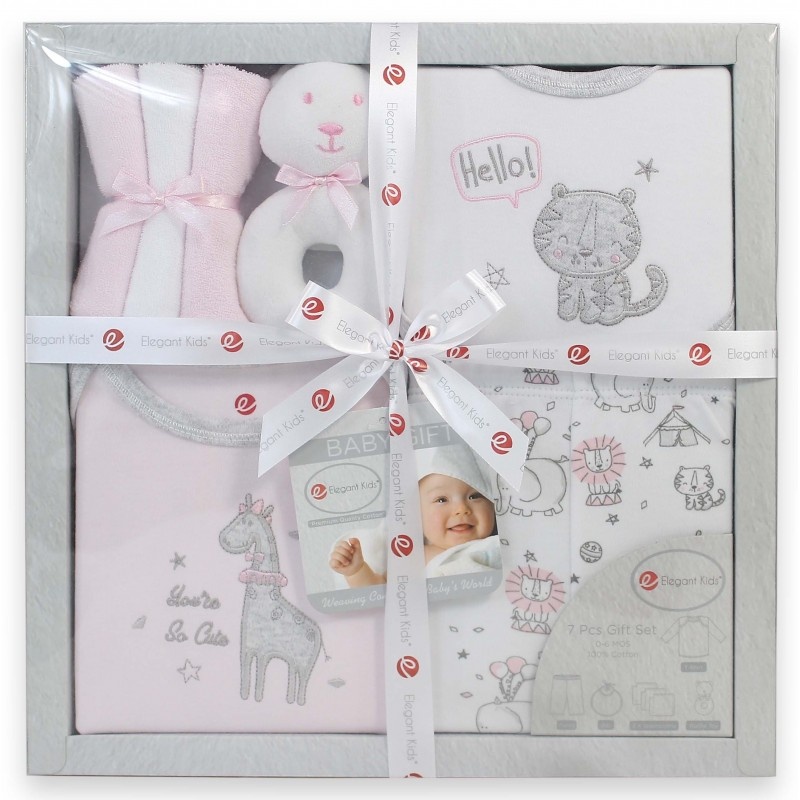 Elegant kids 7 PCS BABY GIFT SET