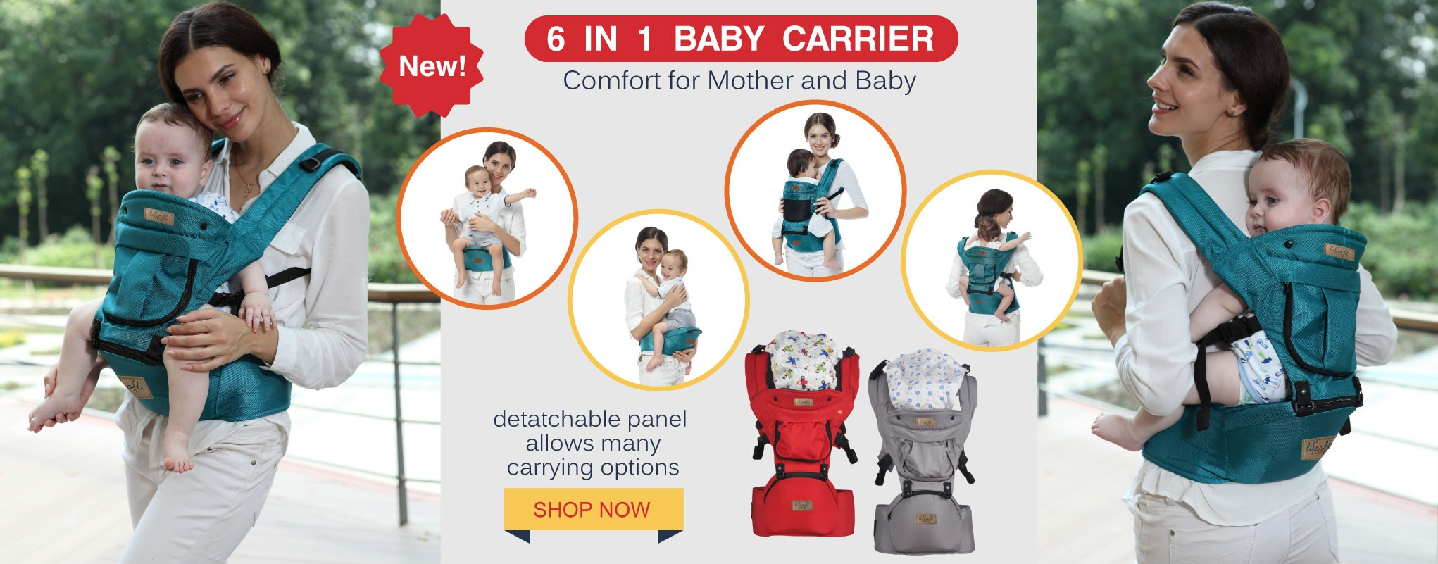 6 in 1 Baby Hip Carrier - Comfort for Mother and Baby